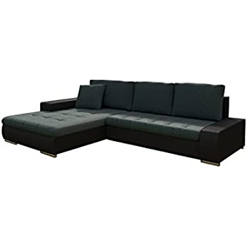 gro es ecksofa sultan weiss strukturstoff grau ot links. Black Bedroom Furniture Sets. Home Design Ideas
