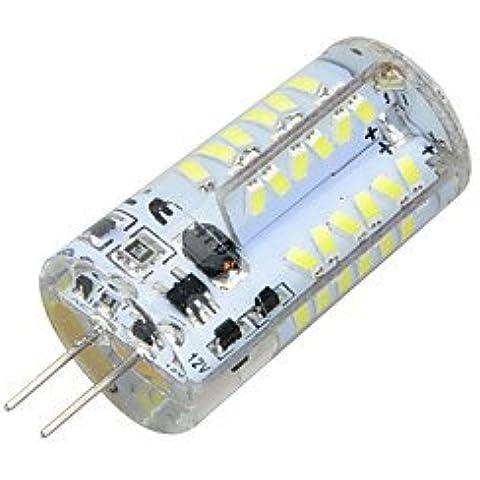 Bombilla, Sello de silicona G4 5W 500LM 3500K / 6500K 57x SMD 3014 LED fresco de la lámpara del bulbo caliente / White Light (AC / DC 12V) ( Color : Blanco Frío