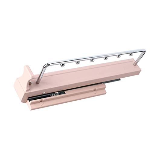KISlink Percha extraíble con riel de Amortiguador, Armario Extensible extraíble Perchero para Ropa Rack Organizador (44cm) (Color: A)