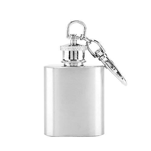 Mini-Weinflasche mit Tasche, Edelstahl, für Whisky, Likör, Alkohol, Schraubverschluss, einzigartiges Geschenk