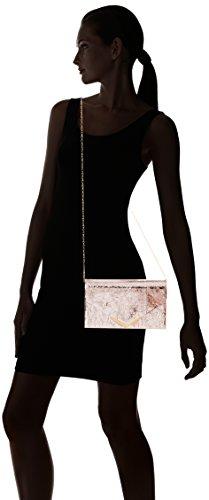 Swanky Swans - Anastasia Envelope Metallic Clutch Bag, Pochette da giorno Donna Oro (Champagne Rose)