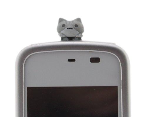 BONAMART ® D 3.5mm Katze Anti-Dust Plug Anti-Staub-Stecker Staub Schutz Stöpsel Kappe Headset Earphone Buchse Klinke für Phone Tablet Für Smartphones Tablet (for iPhone 3 3GS 4 4S 5, iPad 1 2 3 4 mini, Samsung Note 2 N7100, galaxy S3 i9300, i8190, I82