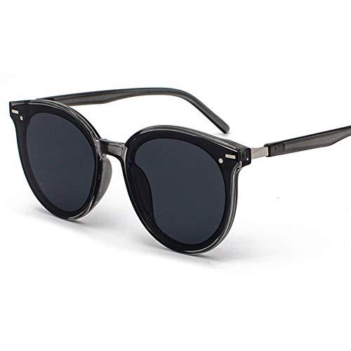 GJY Mode Reisnagel Sonnenbrille net roten großen Rahmen Retro Paar Street Beat Sonnenbrille,Gray