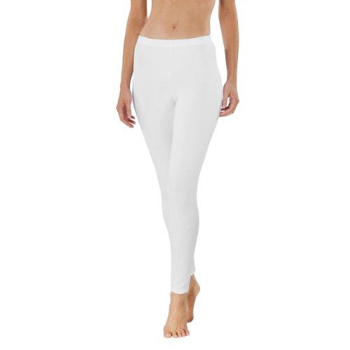 Schiesser Damen Schlafanzughose Leggings weiß (100)