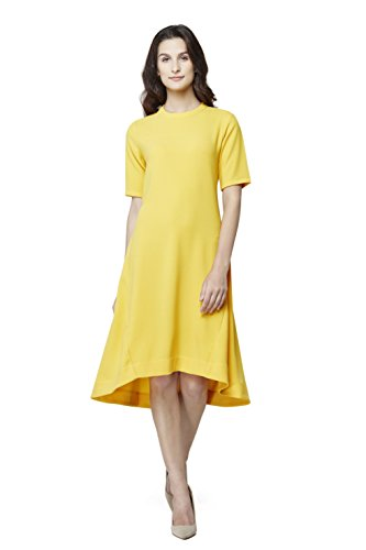 AND Women's A-Line Dress (AW16R42DRPMC_Ochre_18)