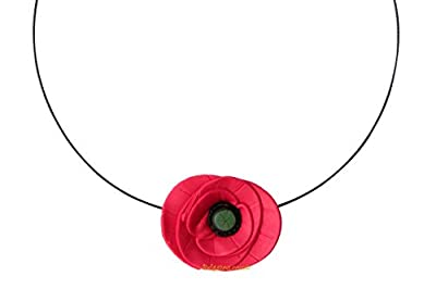 Lady-Charms - Fait-main - Collier / Tour de cou 1 Coquelicot