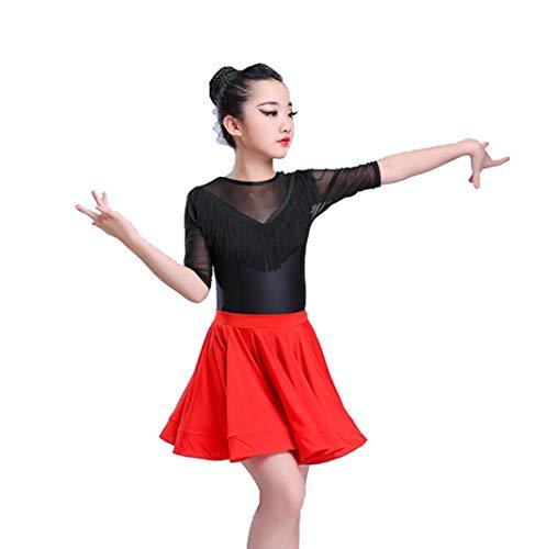 YZLL Child Latin Dance Kostüme, Kids Girls Sequined Latin Tango Ballroom Ballroom Salsa Dance ()