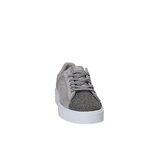 Victoria, Donna, victoria grigio, Suede, Sneakers, Grigio Grigio
