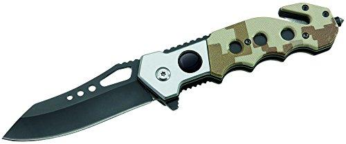ATK Uni Couteau de Sauvetage Coque Poignée en Polyamide Longueur Ouvert : 20.0 cm Couteau, Gris, M