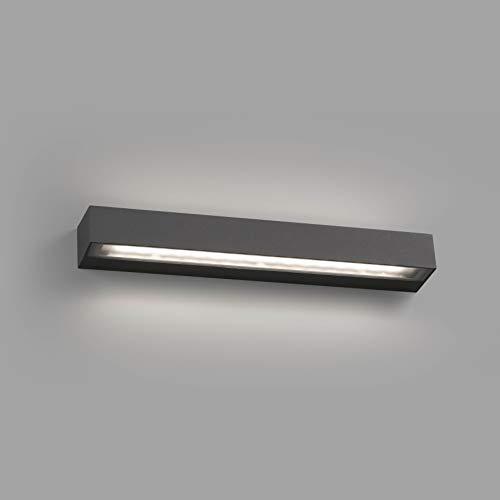 TACOS es un aplique de color gris oscuro de estilo moderno para iluminación exterior, fabricado en aluminio y difusor cristal templado. Este aplique con haz de luz en la parte superior e inferior es ideal para iluminación decorativa en jardines y ter...