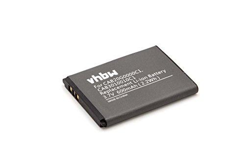 vhbw Li-Ion Akku 600mAh (3.7V) für Handy Smartphone Telefon Alcatel Gyari wie B-U9X, CAB20G0000C1.
