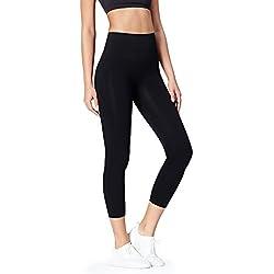 Activewear Mallas de Deporte sin Costuras Mujer, Negro (Black), XX-Small