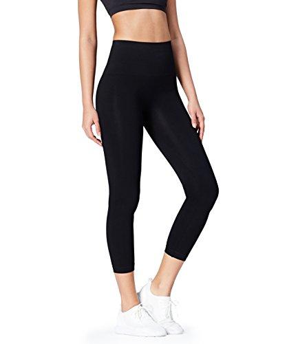Activewear Damen Sport Leggings, Schwarz, Medium