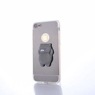 Handy-Hüllen & Hüllen, Case für iPhone DIY stressabbau case rückseitige Abdeckung case Cute 3D Cartoon weiche TPU case (Farbe : Schwarz, Kompatible Modellen : iPhone SE/5s/5) - Telefon-abdeckungen Iphone 4s