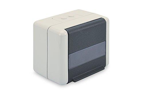 DIGITUS Daten-Anschlussdose - Outdoor Netzwerk-Dose - Für 2 Keystone-Module - Klapp-Deckel - IP44 - Aufputz -
