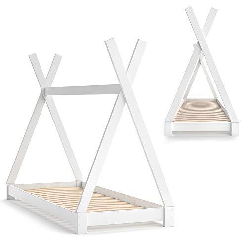 Vicco Kinderbett TIPI Kinderhaus Indianer Zelt Bett Kinder Holz Haus Schlafen Spielbett Hausbett 80×160 (Weiß) - 7
