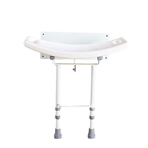 JXXDDQ Hocker mit abnehmbarem Blatt zur Wandmontage, Faltbarer Duschsitzstuhl, Faltbarer Badewannensitz for ältere Menschen, Schwangere und Behinderte, zum Baden in Weiß -