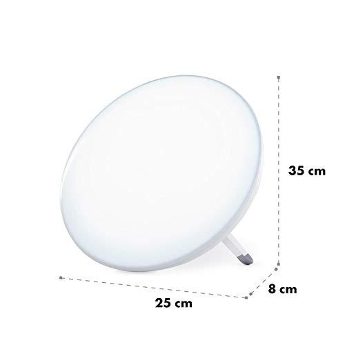 Klarstein Wintersun Lampe de luminothérapie LED 10.000 Lux 6500 Kelvin sans UV