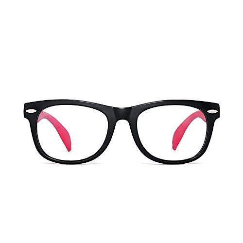 Kinder Blaues Licht blockiert Brillen Kids Anti-Augen-Belastung Gläser für Computer, Telefone, TV, Video Gaming Mädchen Jungen Schwarzer Rahmen Roter Tempel -