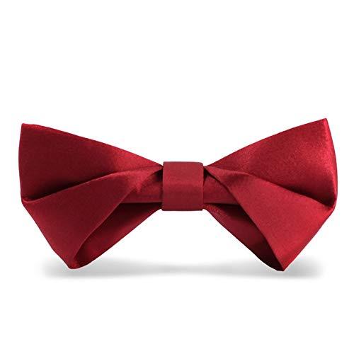 WATERMELON Männlich Verheiratet Seide Fliege Blume Hochzeit Flut Red Silk Neckeck Glatte Textur Handmade Neckcloth Bow Ties (Red Rot Tie Hosenträger Bow)