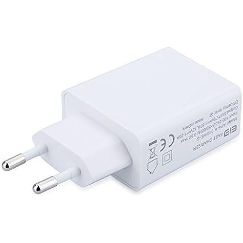 Original Cargador Para Elephone P9000 (100-240V, Carga Rápida, Plástico de Síntesis de Polímeros, Enchufe EU), Blanco