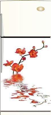 Stickersnews - Sticker frigo électroménager Orchidée 60x90cm Réf 012