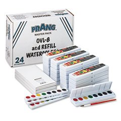 (Prang DIX08020 Professionelle Aquarelle, 8 verschiedene Farben, Masterpack, 36-Set)