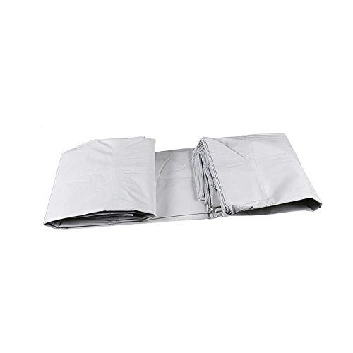 Fishroll Atmungsaktive Möbelabdeckung, zweifach weiß, regendichter Stoff, Sonnenschutz, Abdeckplane für Auto, Wagon, Punch Baldachin, 5M*7M