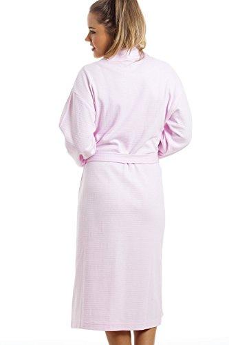 Robe de chambre - 100 % coton - effet gaufré - rose clair Rose