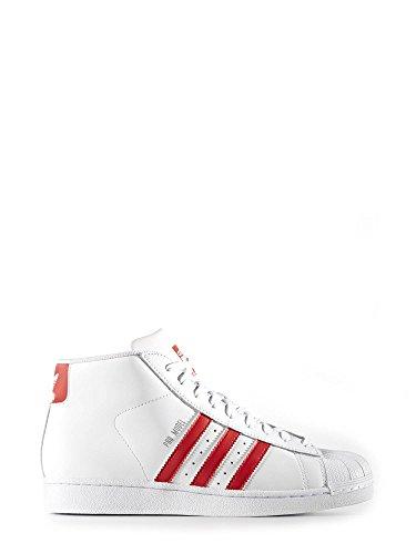 adidas Herren Courtvantage Hohe Sneaker, Weiß/Rot, 38 EU