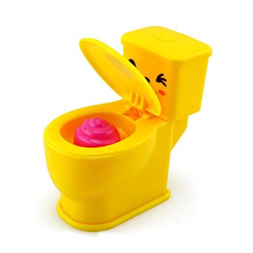 NaiCasy Mini Toilette Spielzeug Streich Spray Wasser Toilette Closes Mini Lustige Spielzeug Mini lustige Squirt Wasser WC-Form Trick Spielzeug zum Spaß (Farbe zufällig) 2 PCS