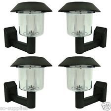 Set Of 4 Solar Power Powered Wall Fence Light Post Led Shed Outdoor Garden Lighting produced by LIVIVO - quick delivery from UK.