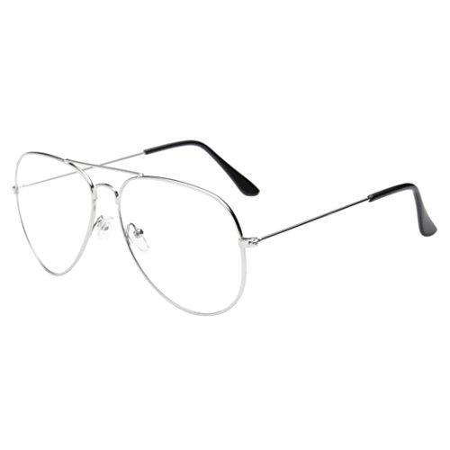 Gafas de Sol Mujer,Xinantime Hombres Mujeres Gafas Transparente 2017 Moda (Plata)