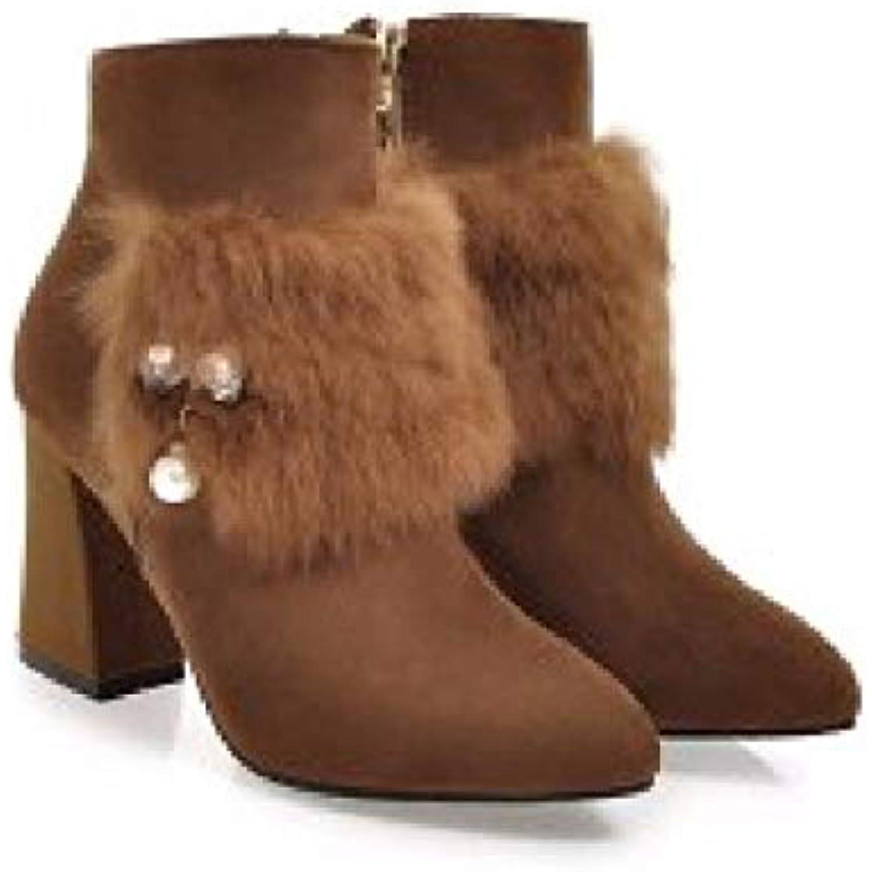 the latest 7592d b5981 HBDLH Chaussures pour Femmes en Automne Et en Hiver Le Le Le Milieu Talons  Dure Et