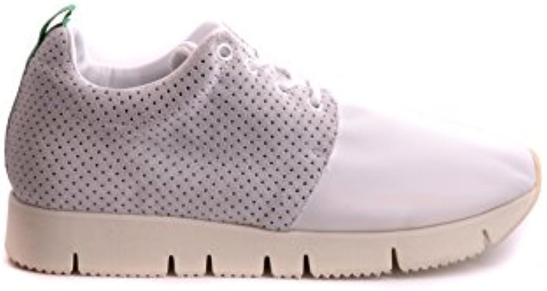 Leather Crown Herren MCBI185004O Weiss Leder Sneakers