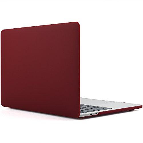idoo-gummierte-schutzhulle-hard-case-cover-laptop-hulle-fur-2016-macbook-pro-15-zoll-a1707-matt-wein