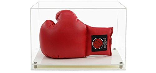 Widdowsons écran Cases horizontal Gant de boxe Vitrine avec une base de moderne Blanc, acrylique, 35.8 x 25.8 x 23.3 cm