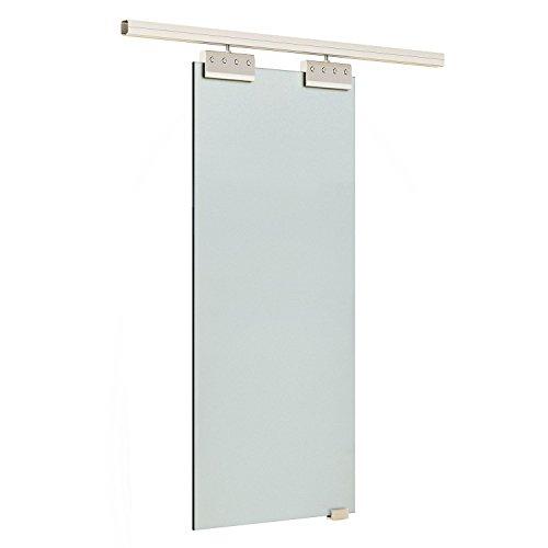 HomCom Puerta Corredera de Vidrio Cristal Translúcido o Satinado de 205x90 cm