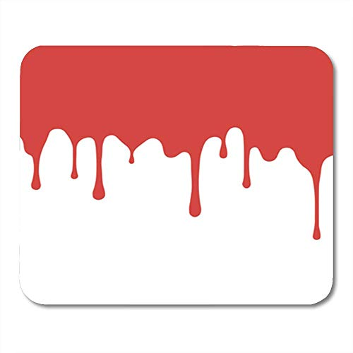 Gaming Mauspad Pink Drip Red Paint Dripping Blood Flows Abstract Blob White Orange Drop Ink 11.8