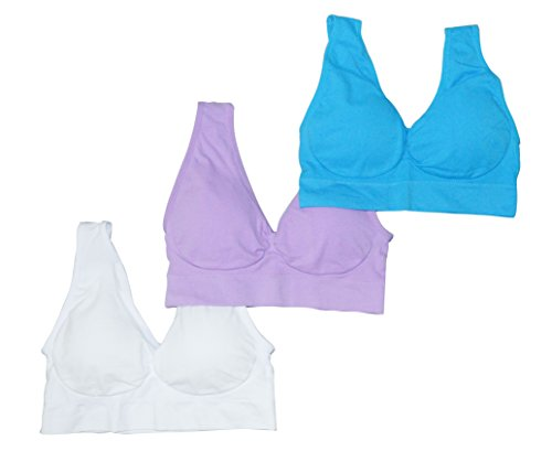 3 Pack Simply Ultra Comfort Sport Style Bra