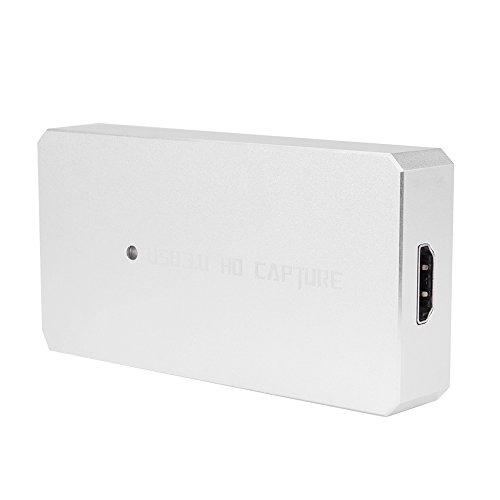 Docooler ezcap287P HD Capture Card Video 1080P Game Recorder USB 3.0 Live Streaming Converter Plug & Play für XBOX Ein PS3 PS4 WII U Silber