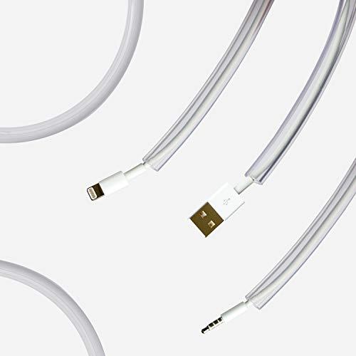 Kabelschutz für Haustiere, flexibel, geruchlos, für Katzen und Hunde, elektrische Strom- und Ladekabel, für Beleuchtung, USB, Cinch und HDMI-Kabel, 214cm universeller Schutz