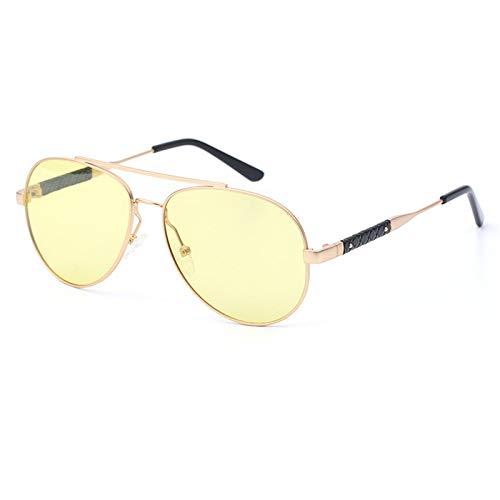 LKVNHP Neue Art UndWeise DerQualitäts -Photochromen Polarisierte Sonnenbrille Männer Frauen Tag Nacht Fahren Sonnenbrillen Man Hd Tac Transition Objektiv Uv400Yellow