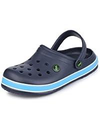 Phedarus Comfortable Clogs/Sandals for Boys - Navy Blue (A095)-26