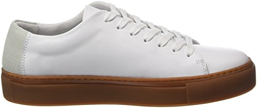 SELECTED FEMME Sfdonna New Leather, Sneakers Basses Femme Blanc (White)
