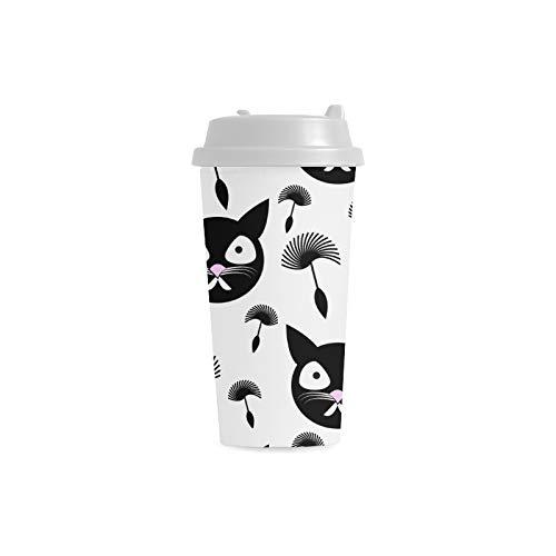 16 Unzen Samen (Löwenzahn Samen Katze Tier Benutzerdefinierte 16 Unzen Doppelwandige Kunststoff Isoliert Sport Wasserflasche Tassen Pendler Reise Kaffeetassen Für Studenten Frauen Milch Teetasse Trinken)