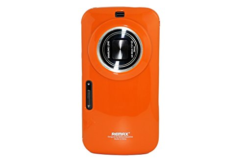 MoreGift4U Bunte Ultra Slim Thin TPU Gel Silikon-Schutz Fall-Abdeckung für Samsung Galaxy S5 Zoom Zoom K SM - C115 + Displayschutzfolie - Orange