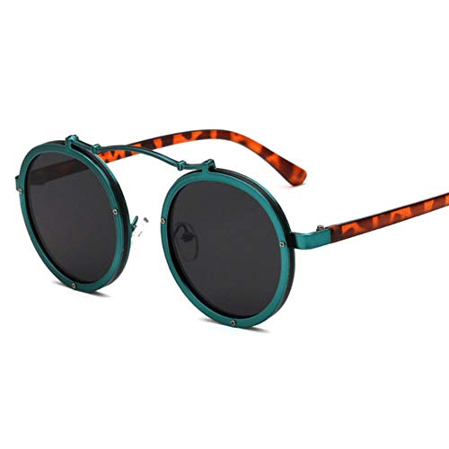 Passionate turkey Leidenschaftlich türkei muselife Frauen runde Sonnenbrille Designer Vintage männer Matte Rahmen Sonnenbrille uv400,5-grün-grau