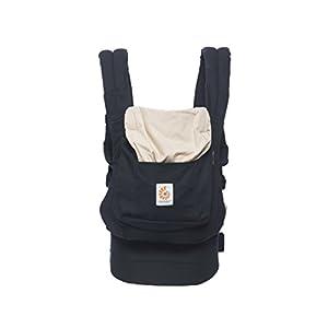 Ergobaby Baby Carrier Toddler Front Back Original Black/Camel, 100% Cotton Ergonomic Child Carrier Backpack   1