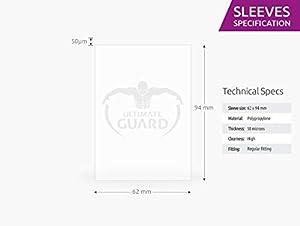 Ultimate Guard 10282 Êltimo Guardia Premium Mangas para Juego de Mesa Tarjetas (50) Guardia última Norma Europea